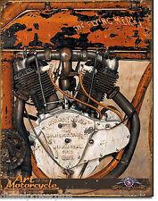 Vintage Replica Tin Metal Sign Jacob Merkel motorcycle motor hd indian shop 2006