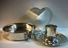 Pampered Chef Springform Locking Pan Set 1540 Heart Mold Bundt Home Cake Baking