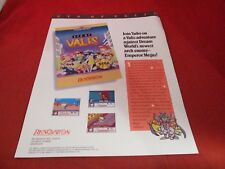 Syd of Valis Sega Genesis Original Promo Mailaway Advertising Flyer Renovation