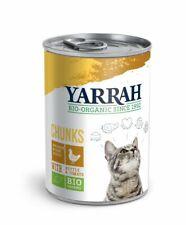 (5,90/kg) Yarrah Katzenfutter Bröckchen Huhn Brennnessel Tomate bio 405 g