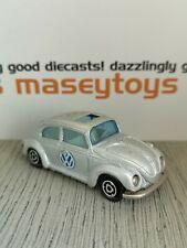 Majorette No.202 VW Volkswagen Beetle. Silver. Original Vintage Diecast