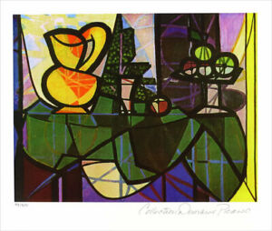 Pablo PICASSO Pitcher And Bowl Limited Edition Giclee Estate Signed 13 x 20