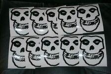 """Misfits Sticker Decal 5"""" Fiend Skull Danzig  lot of 10"""