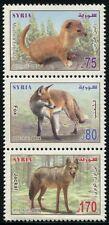 Syrien Syria Syrie 2014 Tiere Fuchs Schakal Fox Jackal Tiere Animals 2444-46 MNH