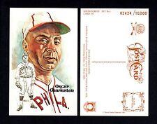 Oscar Charleston, Philadelphia Stars~Negro League Perez-Steele Hof art postcard