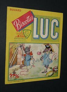 BUVARD 1960-1965 BISCOTTES LUC CHATEAUROUX FABLE LA FONTAINE RAT VILLE CHAMPS