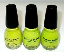 3 SINFUL COLORS Professional Nail Color Polish INNOCENT 944