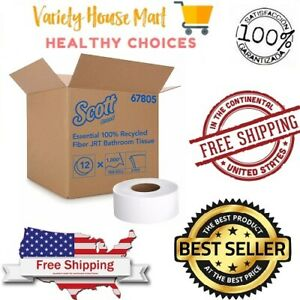 Scott Professional 100% Recycled Fiber Toilet Paper, 2-Ply, 506 Sheets per Roll,