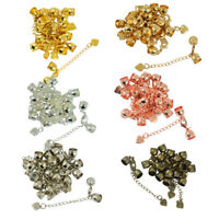 10pcs Ends Caps Lobster Clasps Extension Chain Cord Necklace Jewelry Findings