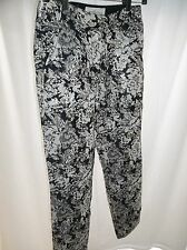 Abercrombe & Fitch Women's Size 0 Brocade Gold/Cream & Black Ankle Pants NWT!!
