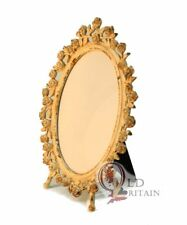 Picture Frame with Floral Design - Metal Cream Oval
