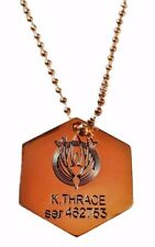 Battlestar Galactica BSG Starbuck Metal Dog Tag Necklace