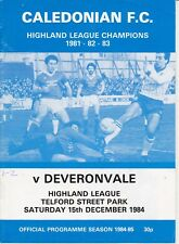 Inverness Caledonian programmes 1981-1994