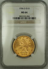 1906-D Liberty $10 Dollar Gold Eagle Coin NGC MS-64