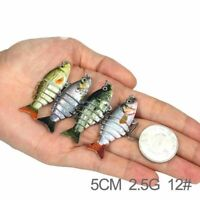 5 cm Mini Fishing Lure Crank Bait Multi Jointed Artificial Hard Bait With Hook