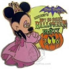 QUEEN MINNIE Princess NOT SO SCARY HALLOWEEN PARTY 2006 LE DISNEY PIN NIP
