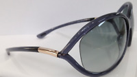 TOM FORD JENNIFER TF8 Smoke Grey B5 Sunglasses Frame 61-15-120 ITALY NEW WRAP