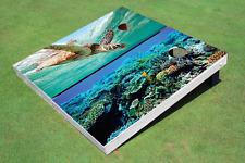 Turtle Reef Custom Cornhole Board