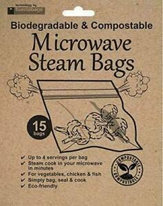 Toastabags Eco Friendly Biodegradable & Compostable Microwave Steam Bags 15 Pack