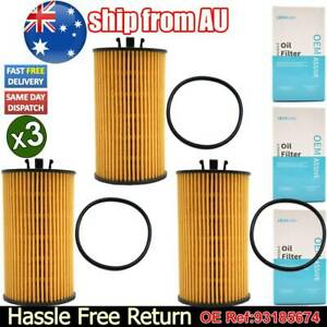3Pc 93185674 Car Engine Oil Filter For Holden Cruze Astra Combo Trax Opel Corsa