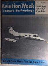 AVIATION WEEK & SPACE TECHNOLOGY Magazine 11/11/1963 USSR in Lunar Landing race
