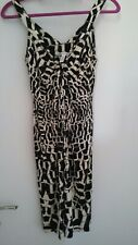 DVF Diane von Furstenberg Ercury bodycon silk jersey stretch dress US8 UK12
