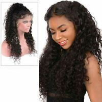 24'' Black Lace Front Wig Synthetic Kanekalon Wave Long Hair Wig with Baby Hair