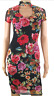 Jane Norman Mesh Lace Floral Print Bodycon Choker High Neck Mini Midi Dress 8