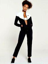 Nike Womens Girls Sportswear Fashion Lifestyle Tracksuit Track Suit Black  White