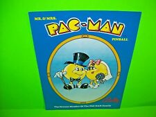 Bally MR & MRS PAC MAN 1980 Original Flipper Game Pinball Machine Sales Flyer