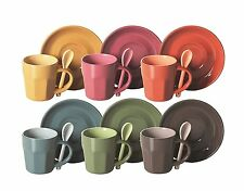 N.6 tazzine e cucchiaino ABBRACCIO con piattino , idea regalo EX-40762 colore