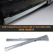 2PCS Side Skirts Spoiler Body Kits Fit for VW Golf IV MK4 Hatchback 2003-2005