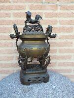 brule encens , bronze,  Vietnam Indochine ancien, fin 19°s