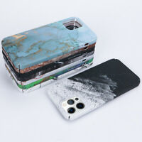 Marble Watercolor Ink Hard PC Case Cover For iPhone 12 11 Pro Max XS XR X 7 8 6S
