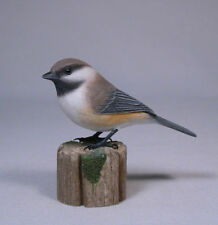 Gray-headed Chickadee Orig Bird Carving Wood/Birdhug