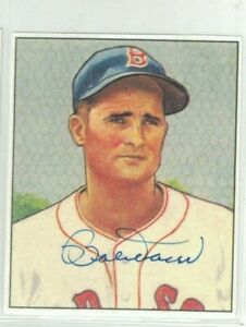 Bobby Doerr Boston Red Sox Signed Blow Up Bowman Paper Photo W/Our COA