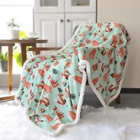 "Lavish Home Fleece Sherpa Super Soft Blanket Throw 50""x60"" Minky Baby Blanket"