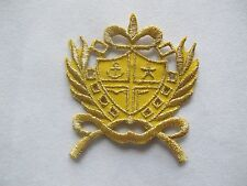 #2590 Gold,Golden Marine Badge Embroidery Iron On Applique Patch