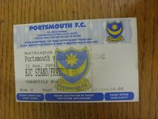 21/08/2001 billet: Portsmouth/Colchester UNITED [Football League Cup] (KJC Sta