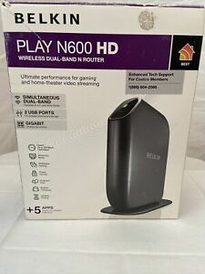 New Belkin Play N600 Wireless Dual Band N+Router High Performance Game Streaming