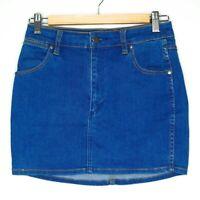 Wrangler Womens Blue Hi Mini High Waisted Denim Skirt Size 10 Summer