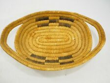 """Vintage Papago Double handled Woven Basket Tray 11.25 x 7"""""""