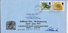 FF-45 FALKLAND-MALVINAS WAR 1987 COVER ANIV OF CLANDESTINE RADIO OPERADOR,