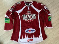 KHL Dinamo Dynamo Riga Game Worn Latvia Latvija Ice Hockey Jersey 68 Jurcina XXL