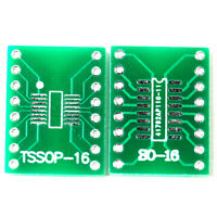 5pcs SO16 SSOP16 TSSOP16 SOIC16 MSOP16 to DIP16 Adapter Converter PCB Board TW