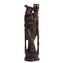 China 19./20. Holzfigur -A Chinese Hardwood Figure of He Xiangu - Cinese Chinois