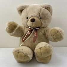 """18"""" Sitting Cuddle Wit Brown Plush Bear With Bow"""
