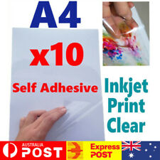Vinyl Sticker Paper - Inkjet Printable A4 Sheets Gloss Matte Self Adhesive