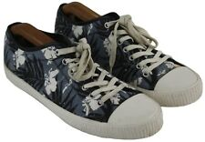 Mens French Connection Hawaiian Print Blue Lace Up Canvas Sneakers Size 11/45