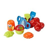 Childrens 9PC Sand Bucket & Spade 8 Tools Set Beach Sandpit Holiday Toy Mould